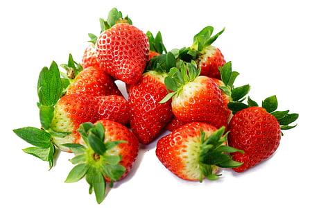 truskawki, słodkie, czerwony, pyszne, dojrzałe, Owocowy, owoce