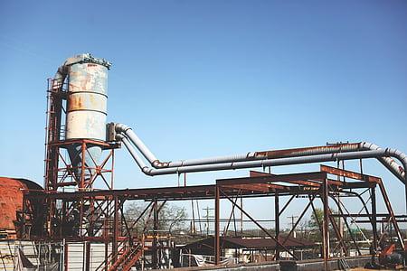 tööstus, taim, mahajäetud, vana, retro, Vintage, Rust