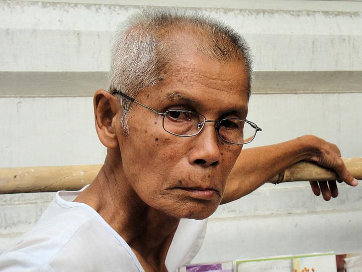 muž, portrét, tvár, Mjanmarsko, Barma