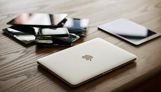 dispositius, Mac, comunicació, tecnologia, portàtil