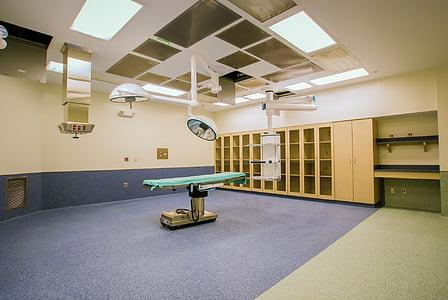 provozní, pokoj, chirurgie, vyčistit, nové, tabulka, pacient