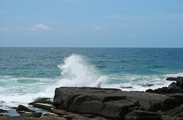 Sea spray, tenger, óceán, víz, Marine, sziklák, Shore