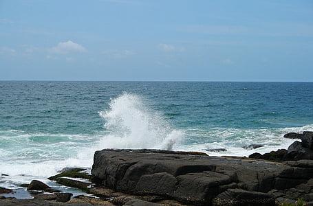 σπρέι στη θάλασσα, στη θάλασσα, Ωκεανός, νερό, Marine, βράχια, Ακτή