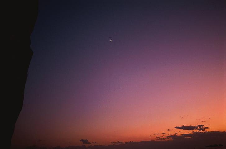 Сутінки небо, Нічне небо, Сутінки, рожевий небо, вечірнє небо