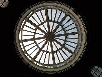 taket, sirkel, design, innendørs, dome, vinduet, Ingen mennesker