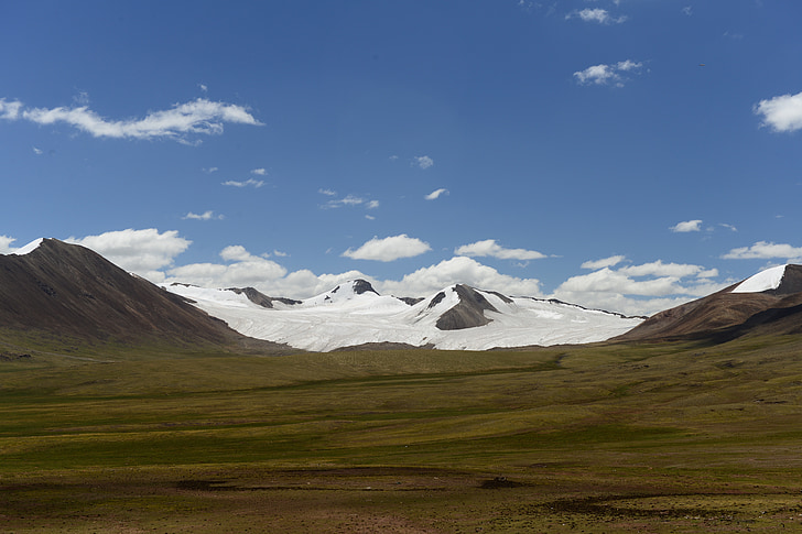 montanha de neve, montanha, pradaria, natureza, paisagem, scenics, neve
