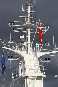danish, danish flag, dannebrog, sky, ship, ferry, denmark