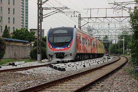 Republiken korea, transport, järnväg, tåg, Tunnelbana, Sydkorea tunnelbana, elmotorer