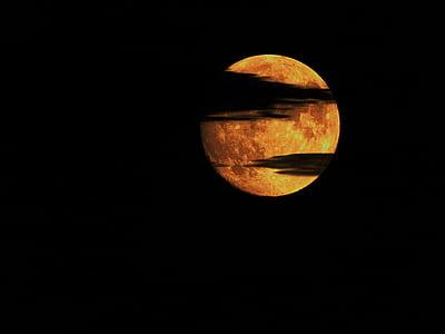 mēness, naktī, mākoņi, nakts foto, debesis, melni mākoņi