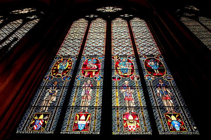 Catedral de Colònia, finestra de l'església, vidre, finestra, l'església, color, brillen