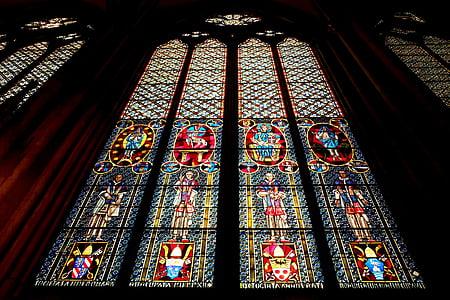 Dom van Keulen, kerk venster, glas, venster, kerk, Kleur, doorschemeren