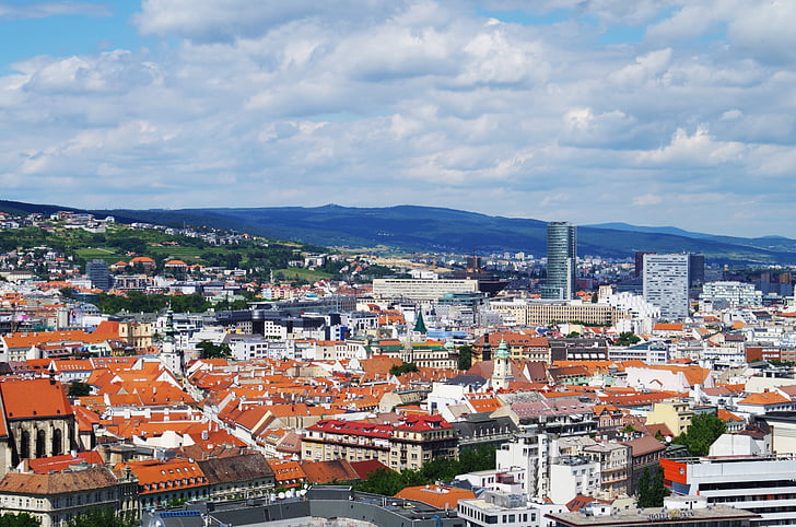 bratislava, slovakia, city, the roof of the, houses, megalopolis, views