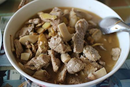 menjar xinès, dishe, aliments, asiàtic, carn de porc, gurmet