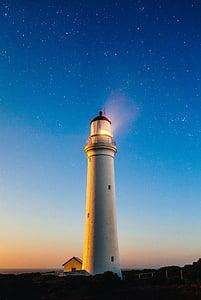 Far, oceà, Mar, llum, Costa, Avís, crepuscle