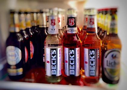 piće, pivo, hladnjak, alkohol, Pivo boca, smeđa, alkoholna