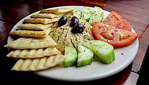 Mediterrània, plat (maquinari), aliments, gurmet, plat, cuina, dinar
