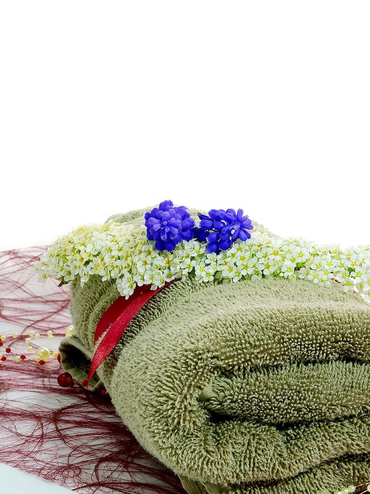 Blume, Deko, Dekoration, Flora, Anlage, Handtuch, Wellness