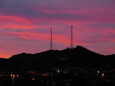 Alba, morgenstimmung, cels, cel, núvols, porpra, vermell