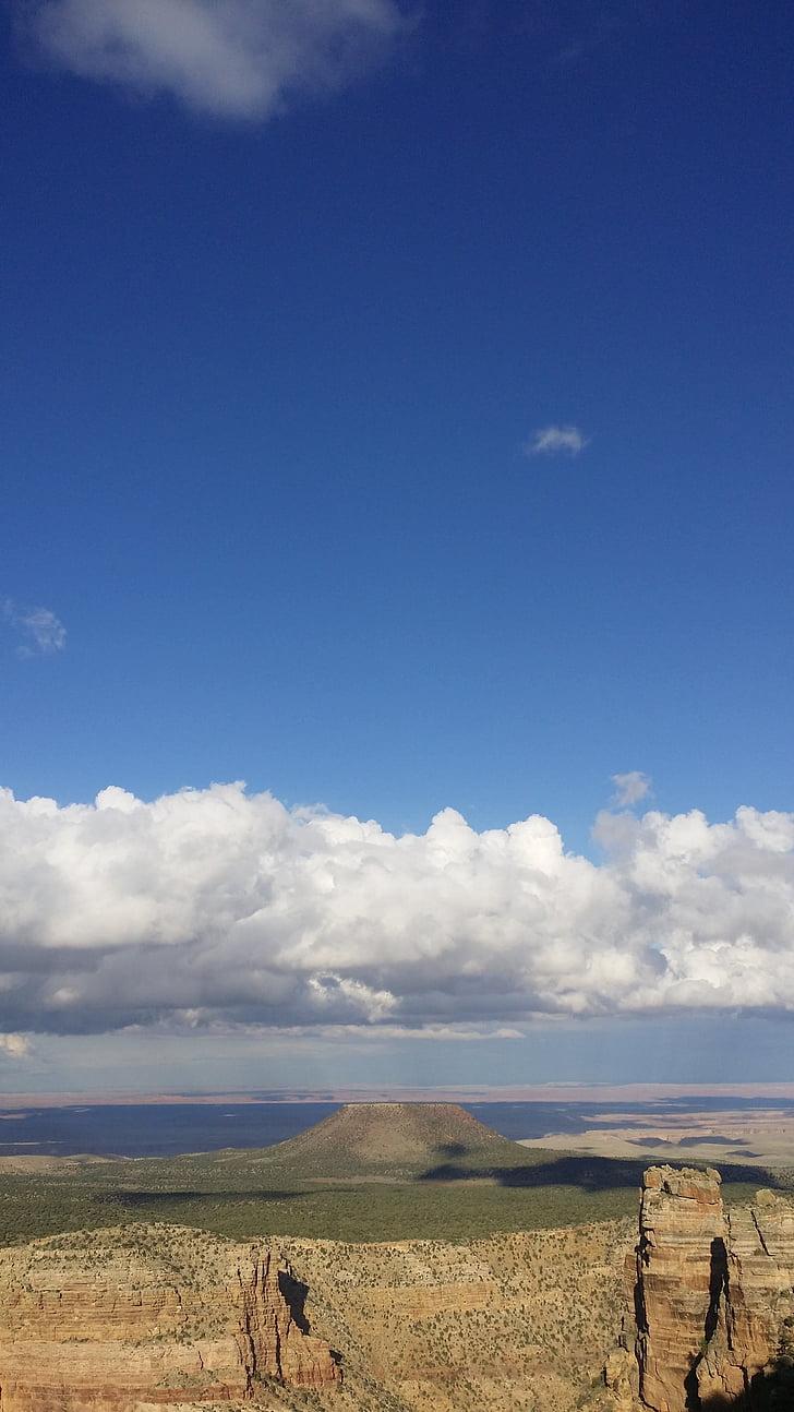 Suur kanjon, taevas, pilve, loodus, maastik, scenics, sinine