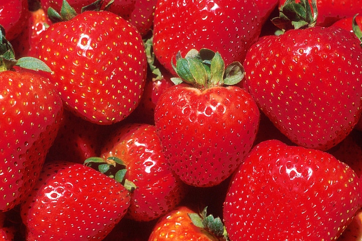 strawberries, fruits, red, strawberry, pink, foods, edible