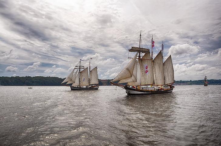 sailing ships, sea, water, rigging, travel, coast, nautical Vessel