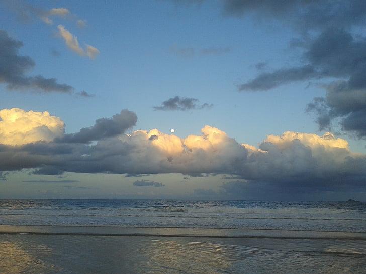 stranden sunrise, Sky, soluppgång, Horisont