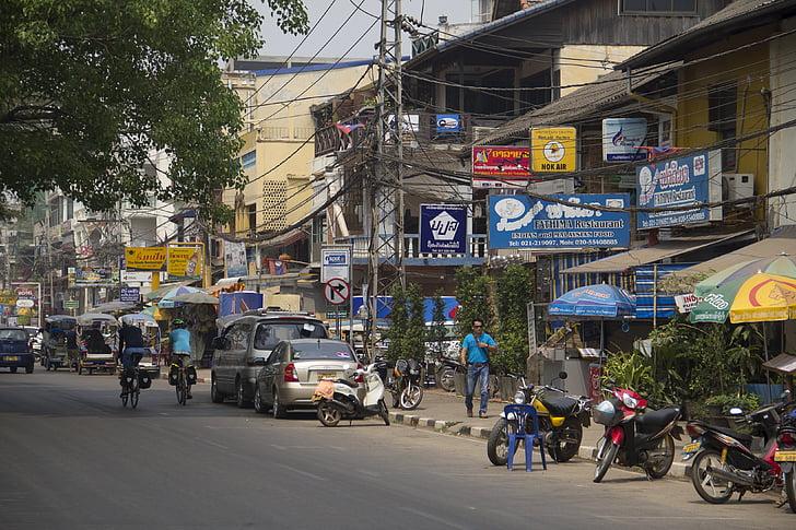 Laos, tráfico, medios de comunicación