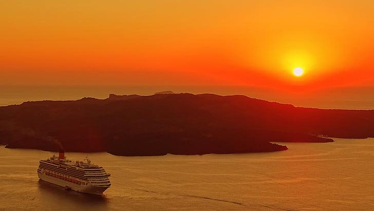 Grécia, Santorini, arquitetura, Ilha, perspectivas, velho, férias
