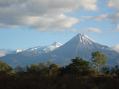 paisagem, Nevado, montanhas, Inverno, montanha, natureza, vulcão