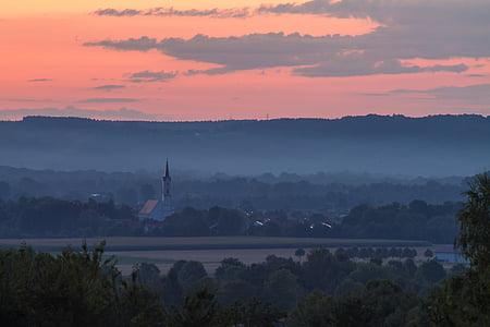 Alba, Baviera, Alemanya, estat d'ànim, romàntic, ambient, sol