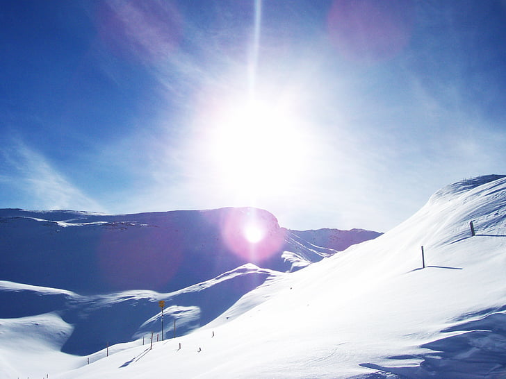 사 보 그 닌, 스위스, 눈 산, 알파인, 태양, 눈