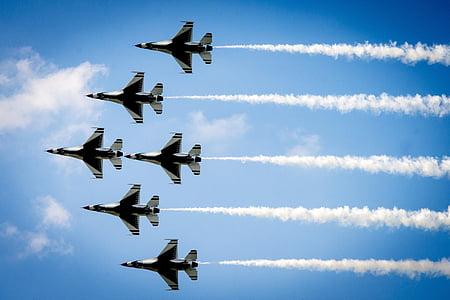 légi show, Thunderbirds, kialakulása, katonai, Légierő, Amerikai Egyesült Államok, repülőgép