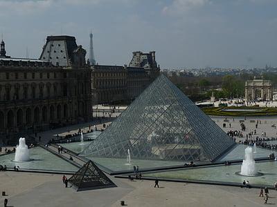 Pariis, Louvre muuseum, Louvre, Louvre'i püramiid, Prantsusmaa, Muuseumid