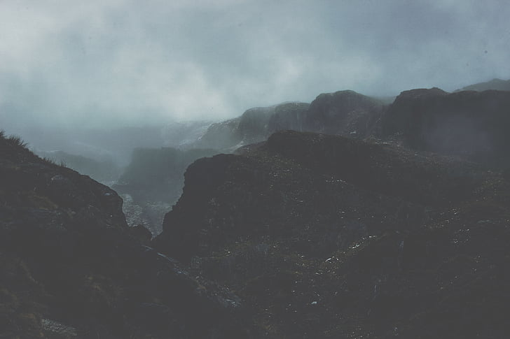 boira, paisatge, boira, muntanya, natura, rocoses