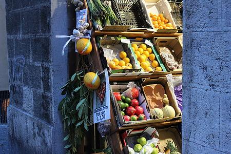 turu, puu, köögiviljad, puu seista, ostmine, Itaalia, puuviljad