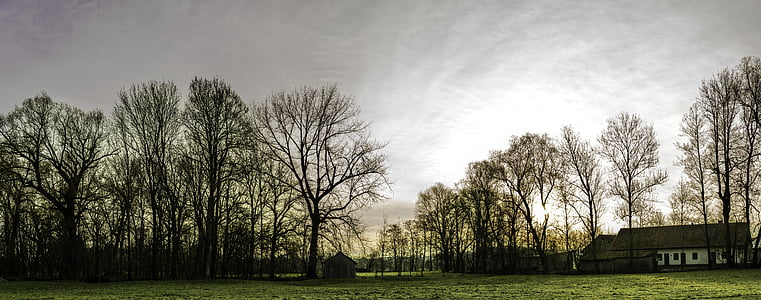 panorama, morgenstimmung, sunrise, landscape, nature, sky, morning