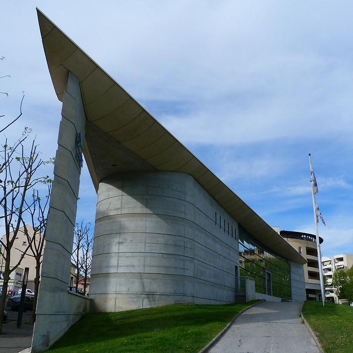 building, urban, architecture, concrete, glass, perspective, hautes alpes