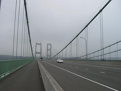 Pont Narrows, Tacoma, suspensió, Pont, arquitectura, disseny d'arquitectura, estructura