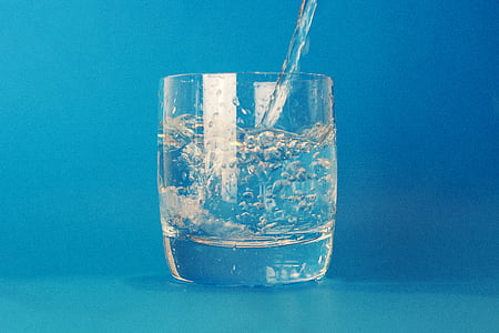 beguda, l'aigua, got d'aigua, líquid, blau, aigua potable