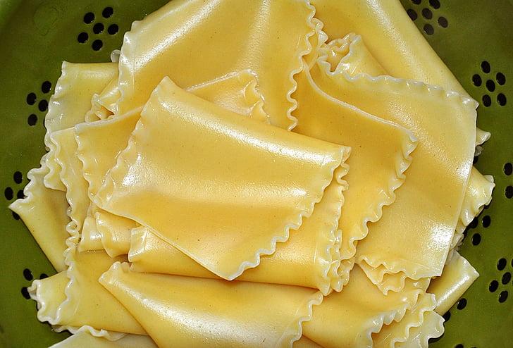 Lasanya, fideus, pastes, aliments, italià, àpat, cuina