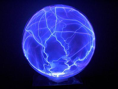 plasma, globus, vidre, Ciència, blau, resplendor, llum