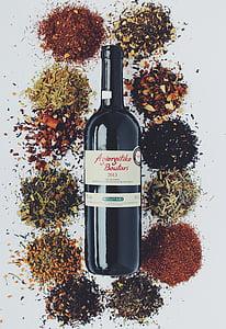 vi, Tast de vins, ampolla, vi negre, espècies, Nota de tast, RAM