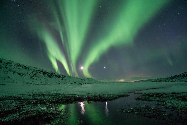 Thiên nhiên, cảnh quan, tối, đêm, Aurora, sao, ngắm sao