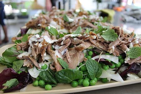 hrana, patka, salata, obrok, kuhinje, večera, ručak
