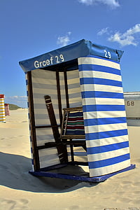 plajă, scaun, Germania, Borkum, turism, mare, nisip