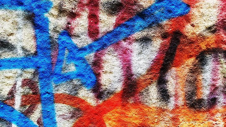 mur, Graffiti, texture, modèle, Résumé