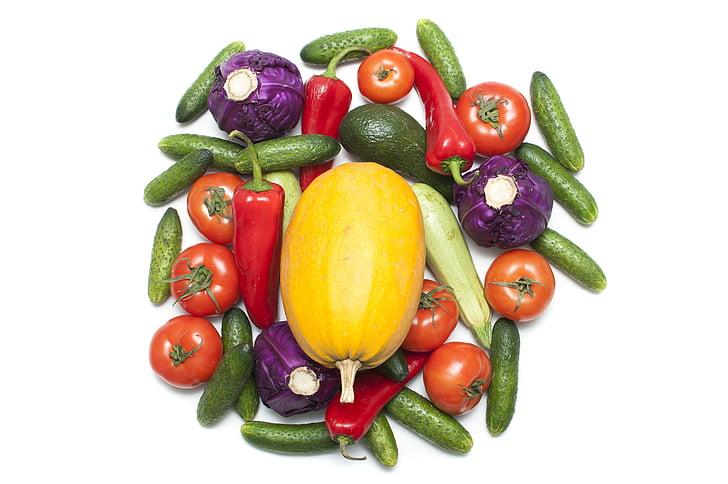 taimne, punane, roheline, toidu, terve, värske, orgaaniliste