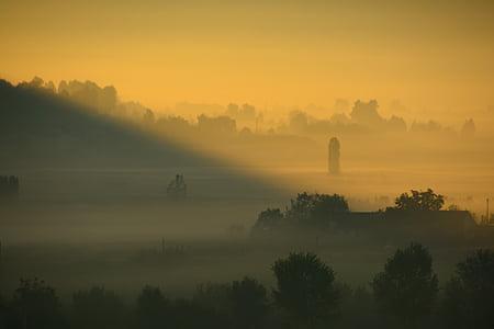 boira, sol de matí, torna la llum, morgenstimmung, Alba, Sunbeam, llum