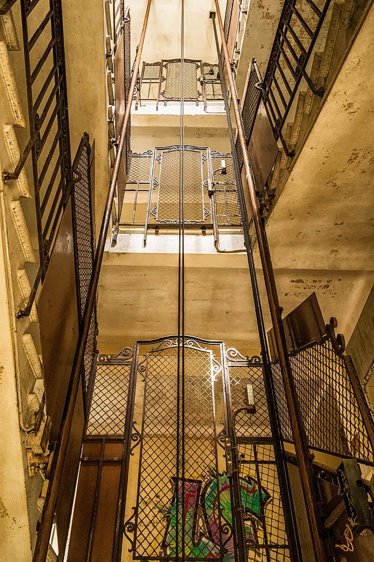 elveszett helyek, Lift, a Hotel, Lift, pforphoto, lépcső, szabadság