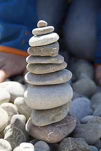 cairn, stone tower, stones, balance, tower, stacked, layered